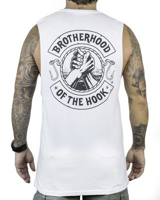 BROTHERHOOD OF THE HOOK - muscle singlet / white cotton