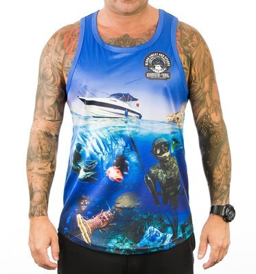 BLOOD SWEAT AND SPEARS / spearfishing singlet