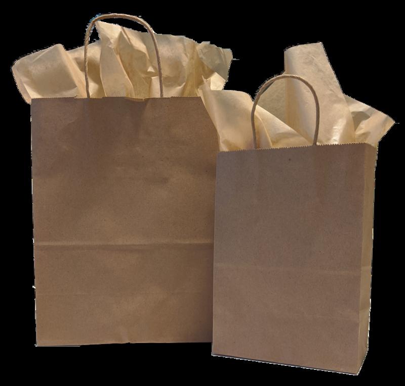 Kraft Gift Bags & Tissue Paper