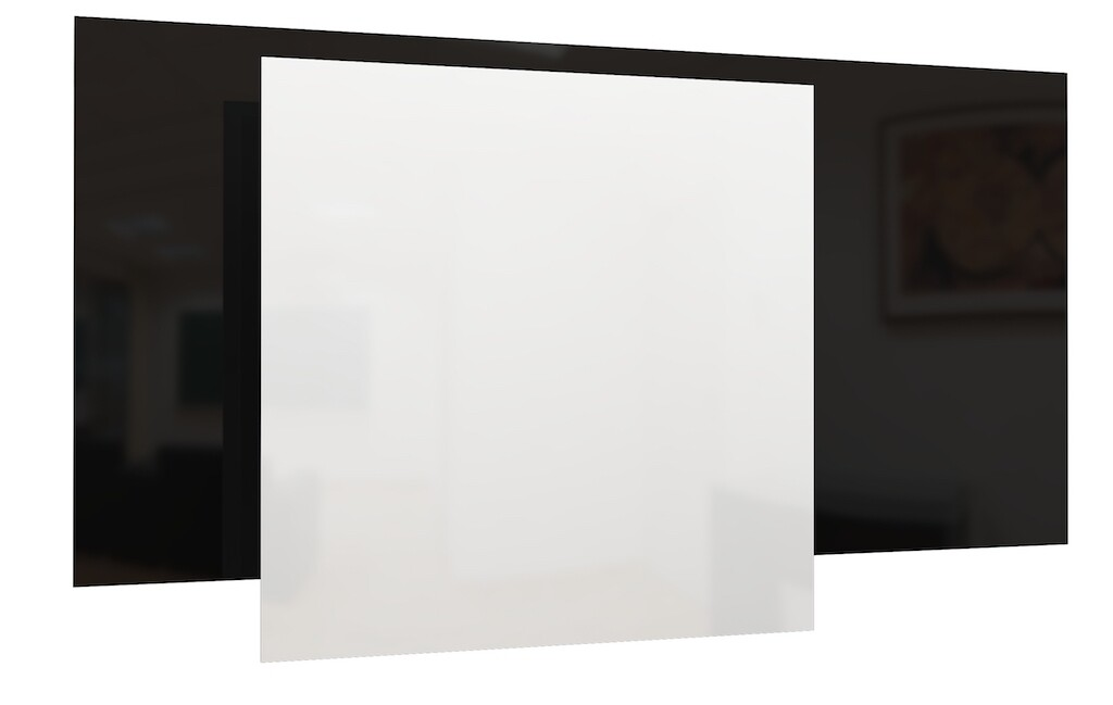 PANEL RADIANTE Bajo Consumo GS de vidrio - Blanco/Negro (Pared y Techo)