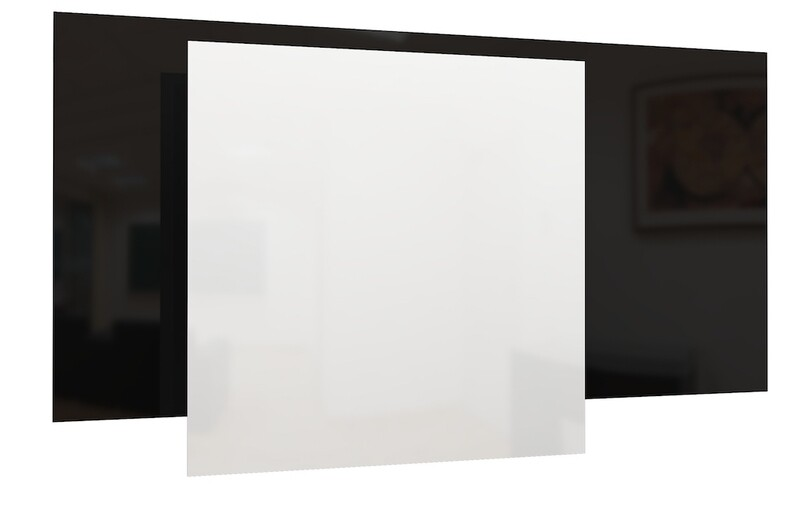 GS Glass Radiant Heating Panel - White/Black (Wall and Ceiling)