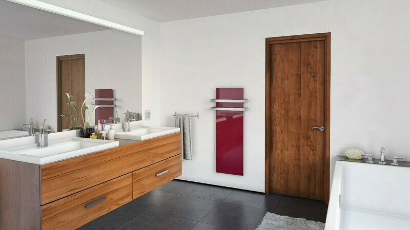 Radiant panel heater GS colors. Infrared heating. Towel rack option.