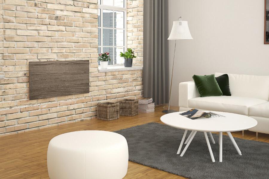 Ceramic heat panel. Option porte-serviettes. (Wall)