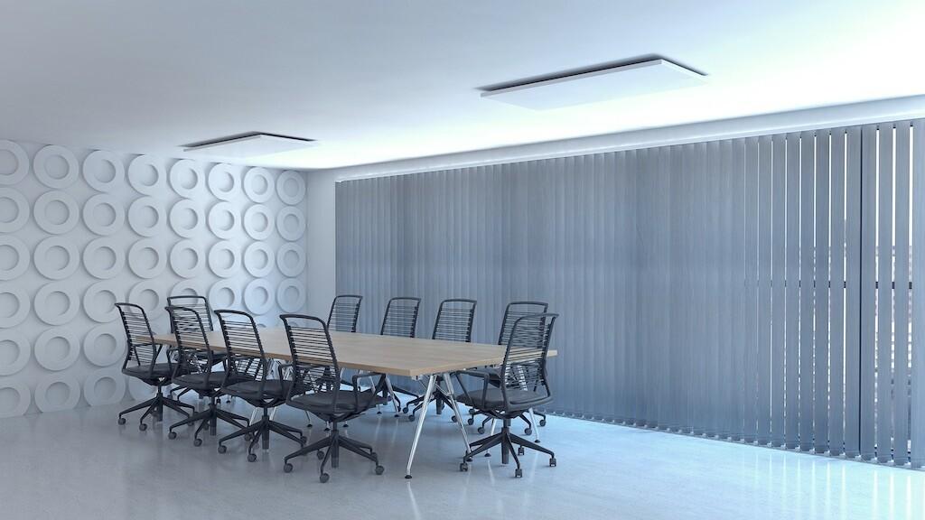Panel Calefactor Radiante U (Techos y techos registrables) para oficinas y locales comerciales