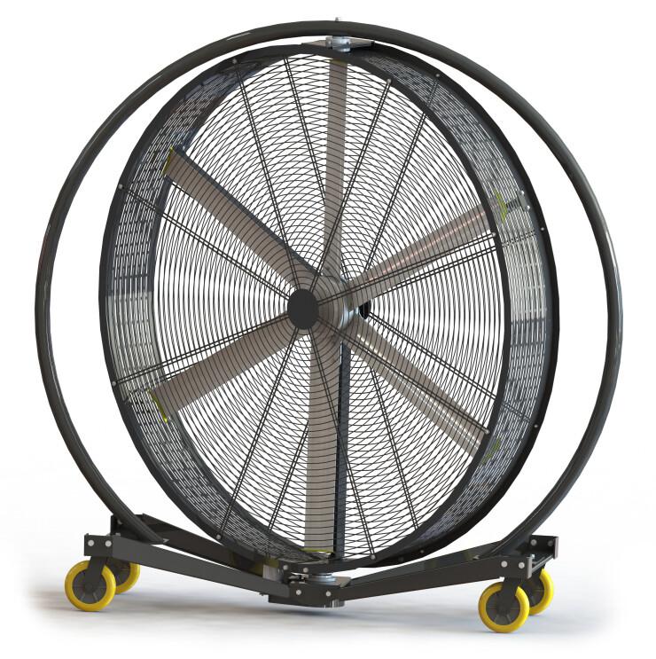 AirGo-P | Ventilador Industrial de Tambor Pivotante