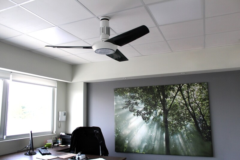 Low profile ceiling fan with light MOMO Design 120 or  140 cm (30% discount included)