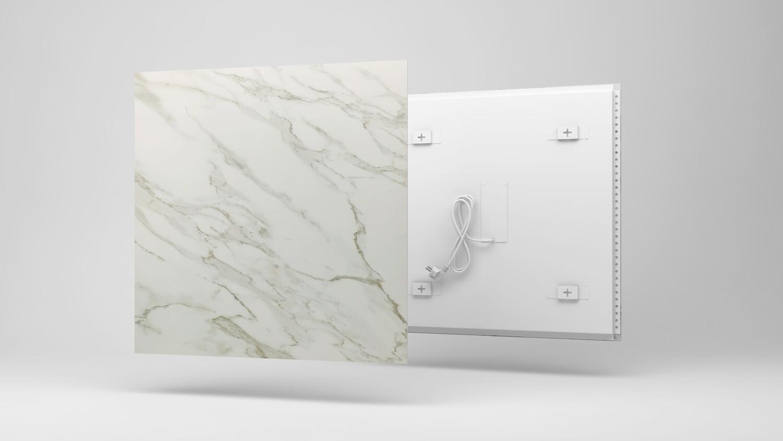 Panel Infrarrojo de Mármol. Piedra natural, diseño único & confort.