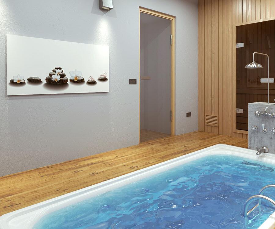 Panel calefactor de pared GS invisible con imagen personalizada