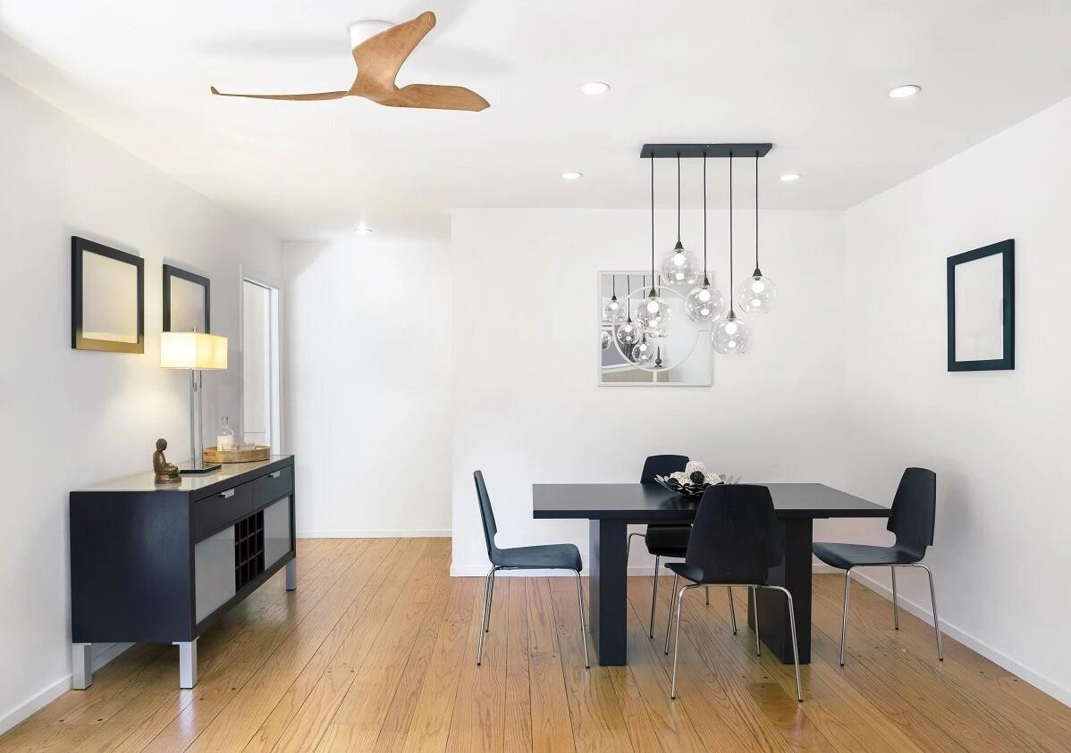 AERATRON FR 60 ROBLE y BLANCO - Ventilador techo silencioso