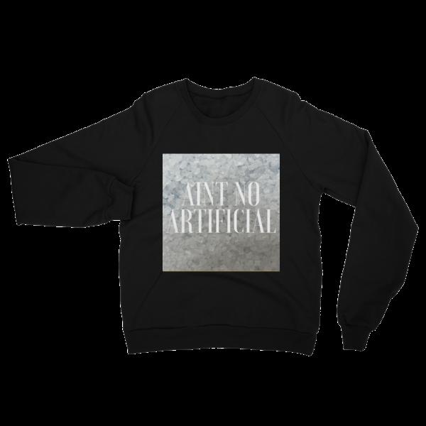No Artificial Fleece Raglan Sweatshirt