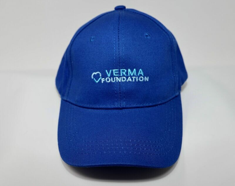 Unisex Blue Cap with Embroidery