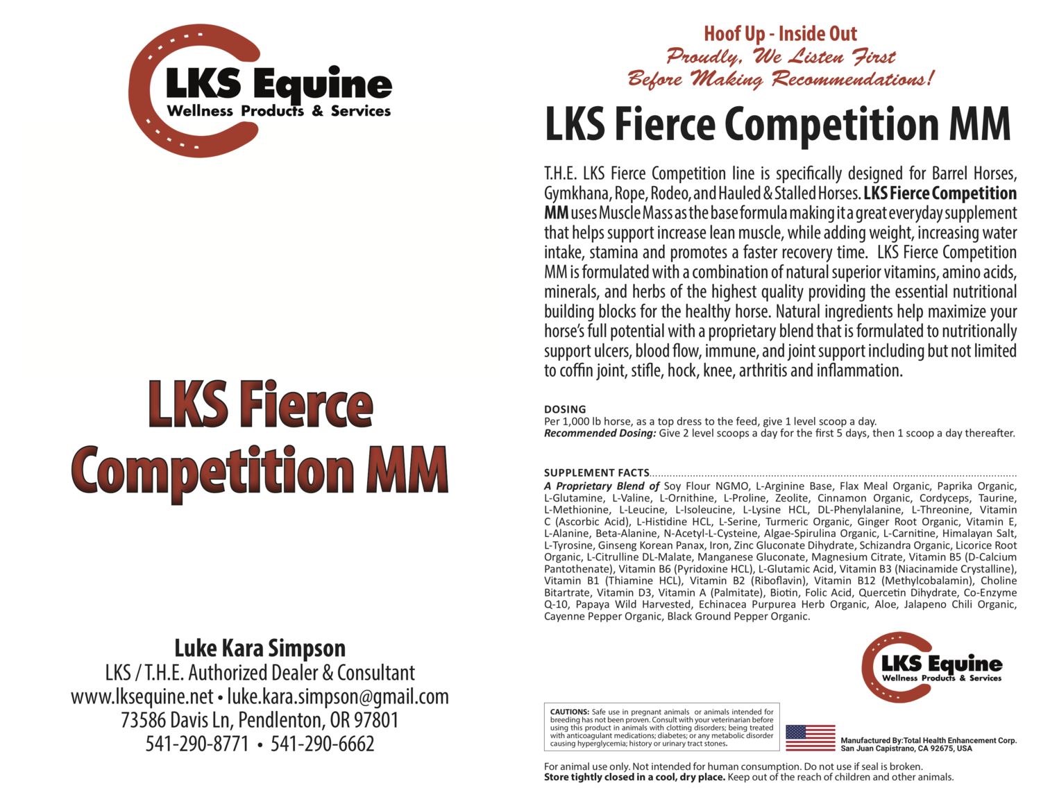 LKS Fierce Competition MM - Muscle Mass Base