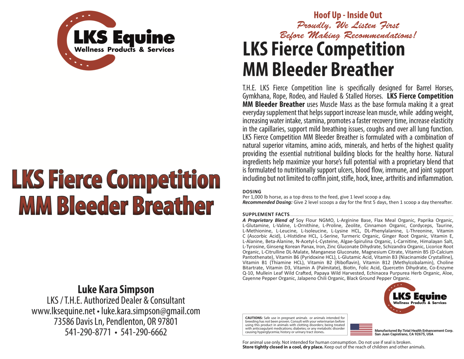 LKS Fierce Competition MM Bleeder Breather - Muscle Mass Base