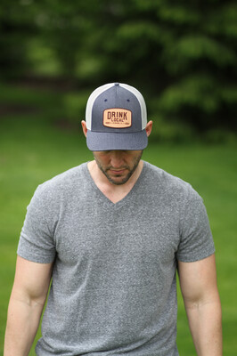 Project Drink Local Hat - Heather Navy/Silver