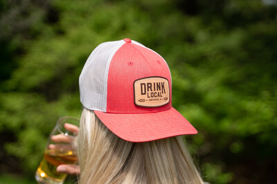 Project Drink Local Hat - Heather Red/Silver