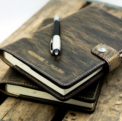 """Leather Journal 5x6.5"""""""
