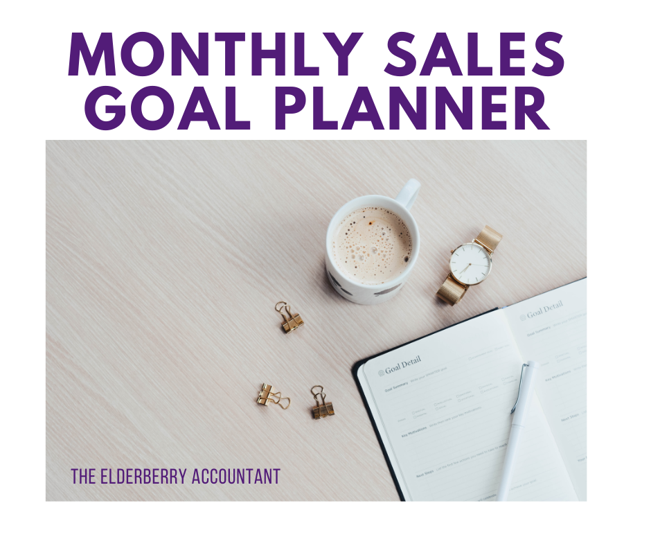 Monthly Sales Goal Planner