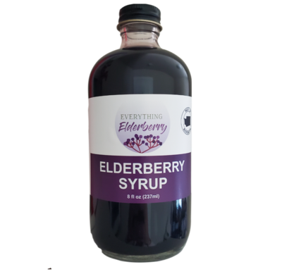 8oz Elderberry Syrup (perfect as a drink mixer!)