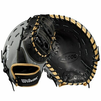 "WILSON A2000 SUPERSKIN BASEBALL FIRST BASE MITT 12.5"" RHT"