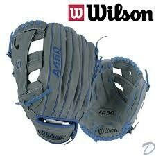 WILSON A450 ADVISORY STAFF PUIG BASEBALL GLOVE GREY BLUE 12