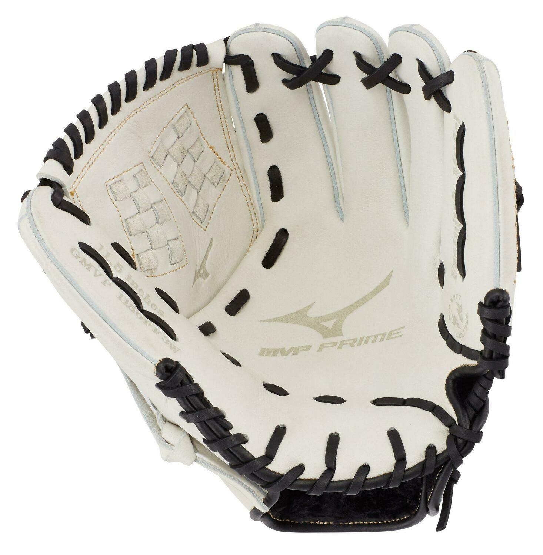 "Mizuno MVP Prime Fastpitch Softball Glove, White/Black 12"" RHT"