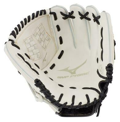 Mizuno MVP Prime Fastpitch Softball Glove, White/Black 12