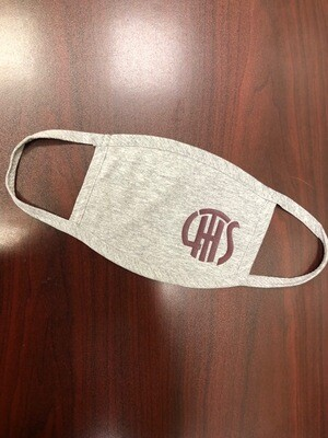 LTHS Facemasks-Grey-GLITTER LOGO