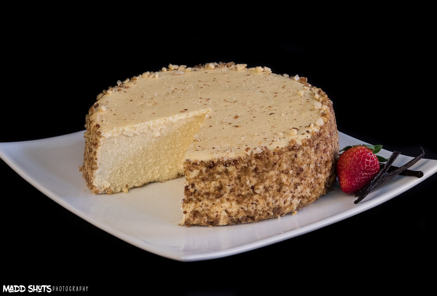 "07 ""KETO Friendly""  Vanilla CheeseCake No Sugar Added - GF & Lower Carbs Crushed Almond Coating​"