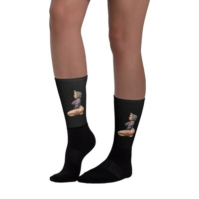 Love BBW On Black Socks