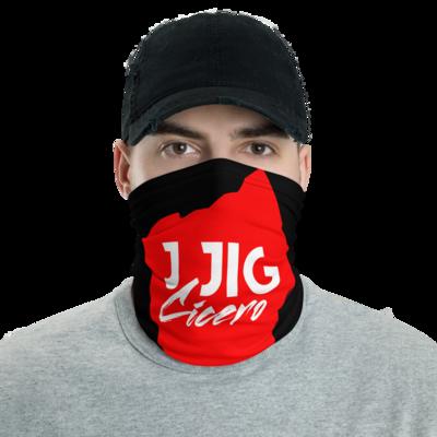 Black Mask Up Red Ohio Neck Gaiter