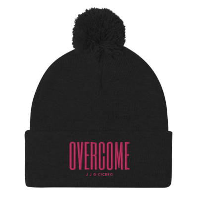 Overcome Pink Pom-Pom Beanie