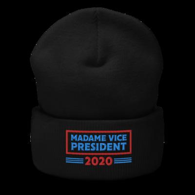 Madame Vice President Cuffed Beanie