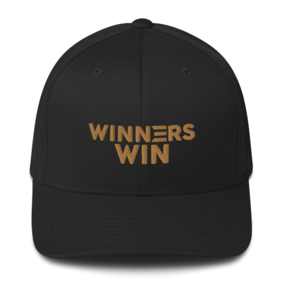 Winners Win Gold Structured Twill Cap