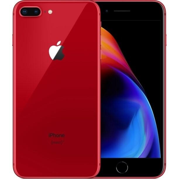 Apple - iPhone 8 Plus - Rouge - 64 Go (Écran et batterie neuve)