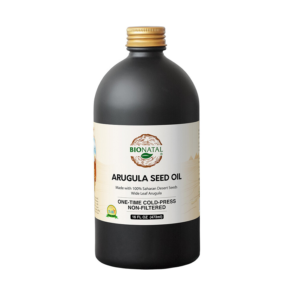 Egyptian desert Wide Leaf Arugula Seed Oil 16oz (GLASS)
