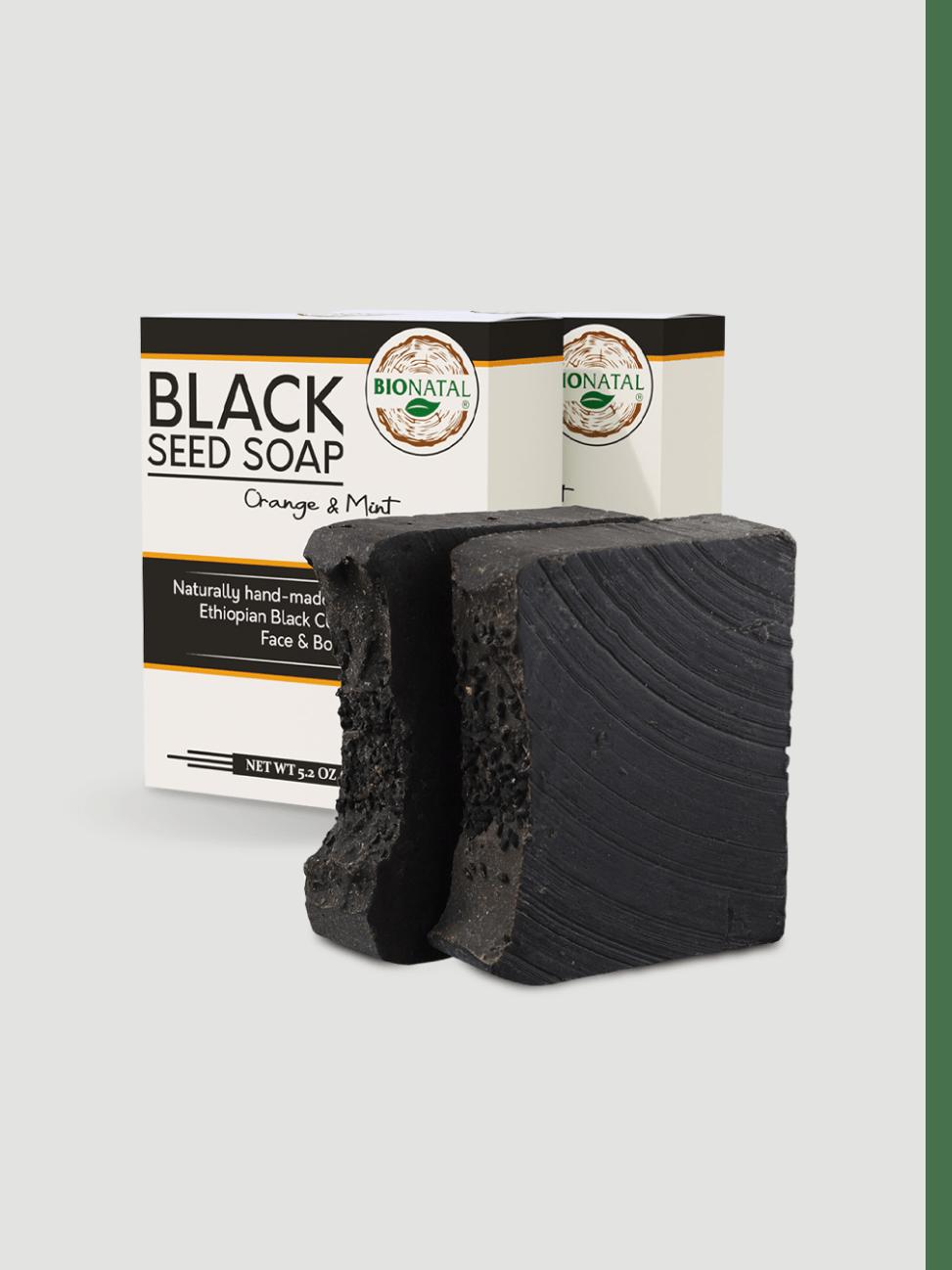 2 Black Seed Soaps (Ethiopian Seeds) Orange & Mint