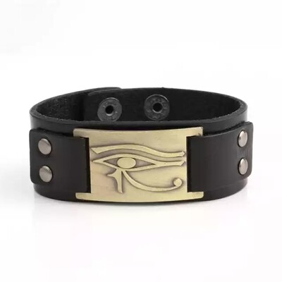 Egyptian Eye Of Horus Udjat Wide Bracelet