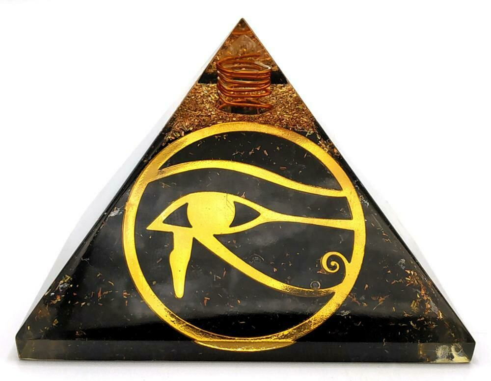 Orgone Pyramid | Eye of Horus | EMF Protection Orgone Pyramid | Meditation