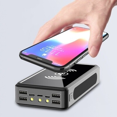 Solar Power Wireless Power Bank With RAPID CHARGE