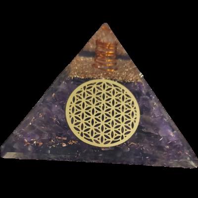 Orgone Pyramid   Flower Of Life   EMF Protection Orgone Pyramid   Meditation