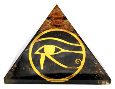 Orgone Pyramid | Eye of Horus | EMF Protection Orgone Pyramid | Meditation