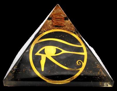 Orgone Pyramid   Eye of Horus   EMF Protection Orgone Pyramid   Meditation