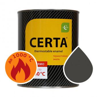 """Эмаль термостойкая черная (0,8 кг) """"CERTA"""""""