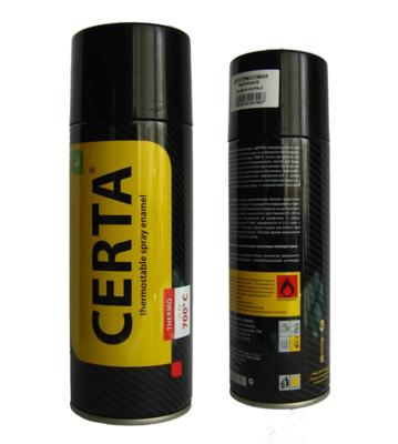 Краска термостойкая аэрозоль CERTA до 750C