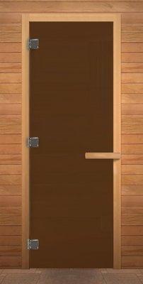 Дверь для сауны. Бронза Матовая 1900х700мм (6мм) (716) (кор. хвоя)(левая)