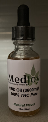 MedJoy™ 3600mg THC-Free CBD Oil Super Strength