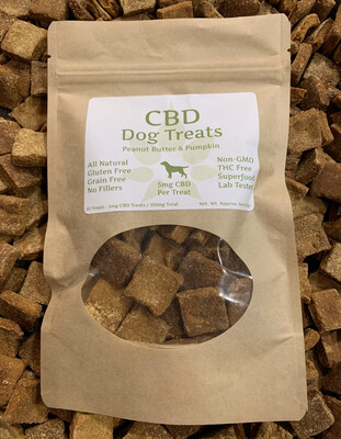 MedJoy™ For Pets - Organic/Non-GMO, Gluten Free, Grain Free Pet Treats for Dogs, 30ct, Approx. 5mg CBD Per Treat