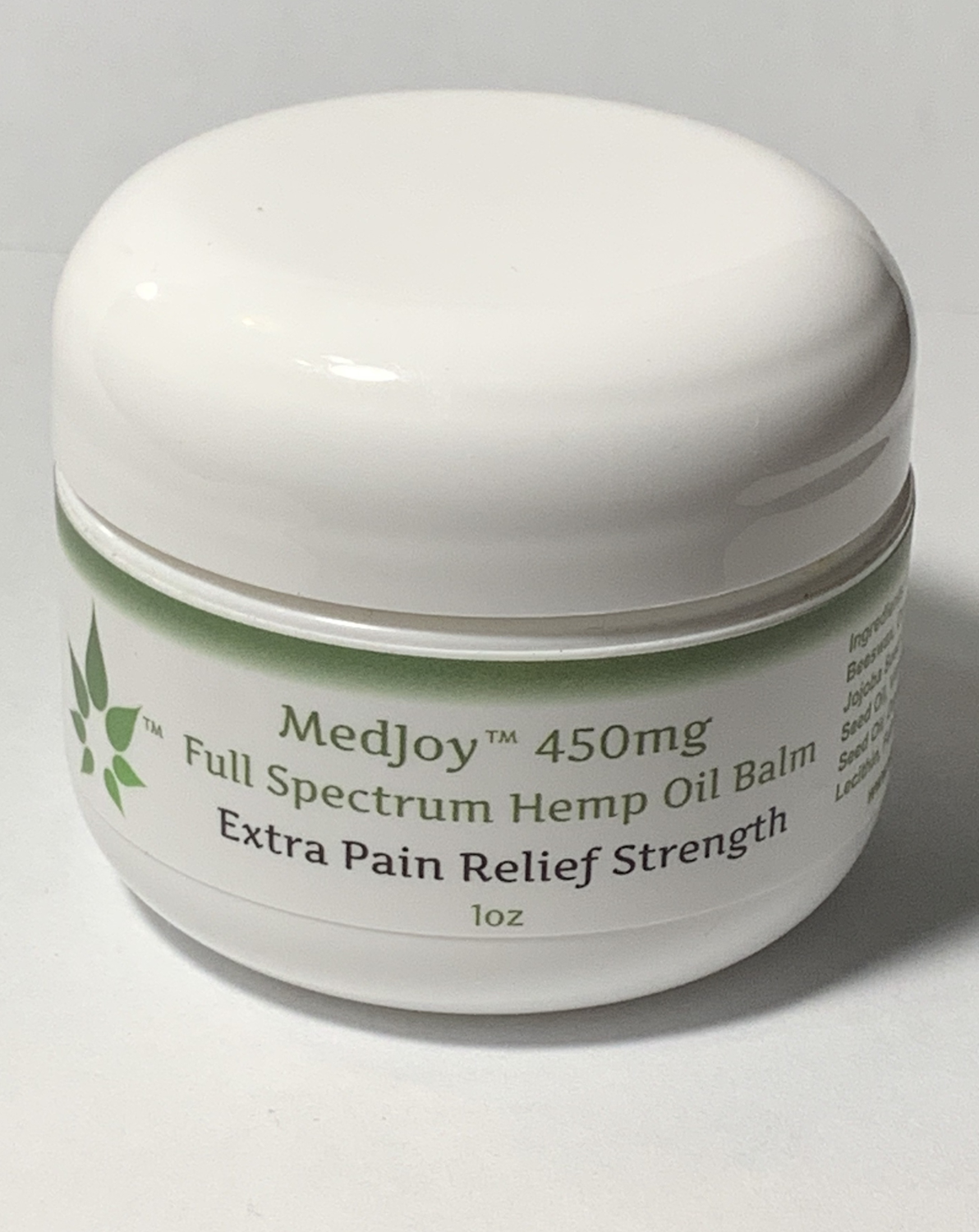 MedJoy™ Full Spectrum Hemp Balm (450mg Full Spectrum) - Extra Strength 1oz