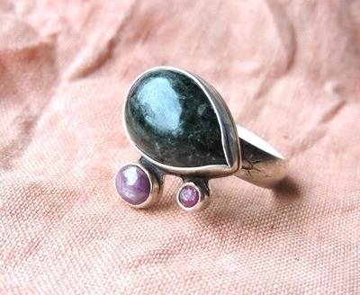 Jade & Sapphire Men's Ring