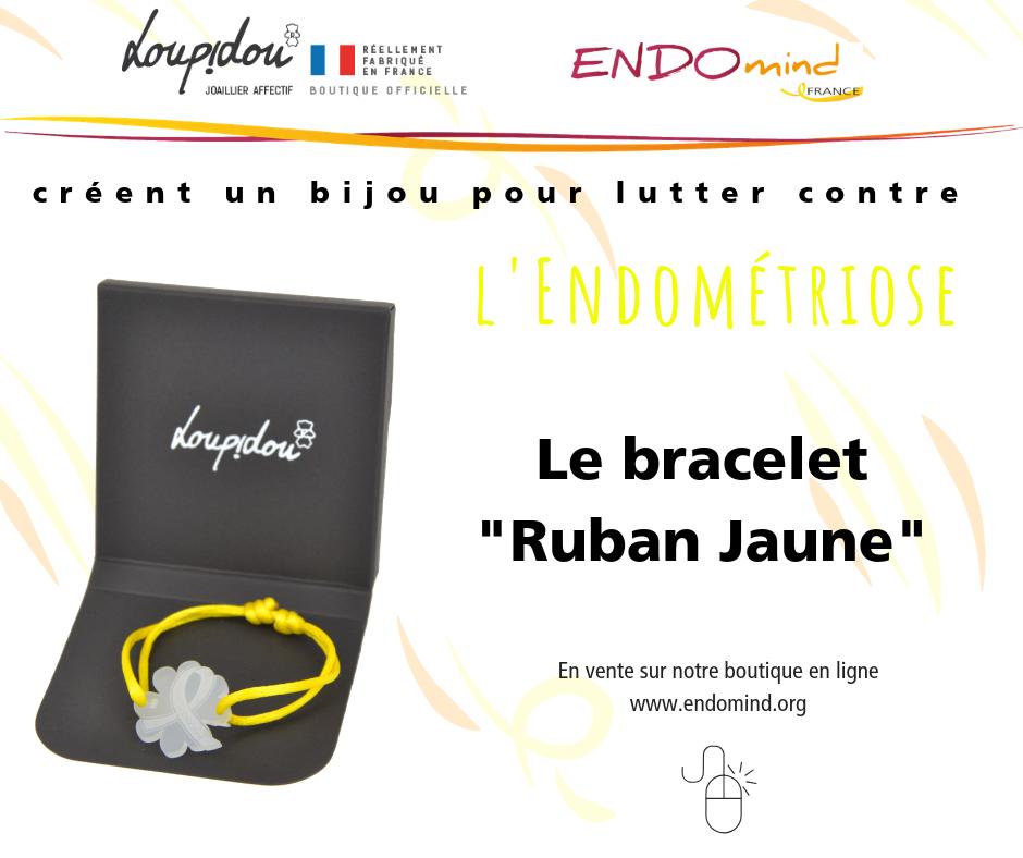 Bracelet Loupidou Ruban Jaune